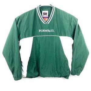 HAWAII WARRIORS Green Pullover Windbreaker Jacket